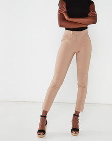 Sissy Boy Nevada Mid Rise Trousers With Gold Tab Tan