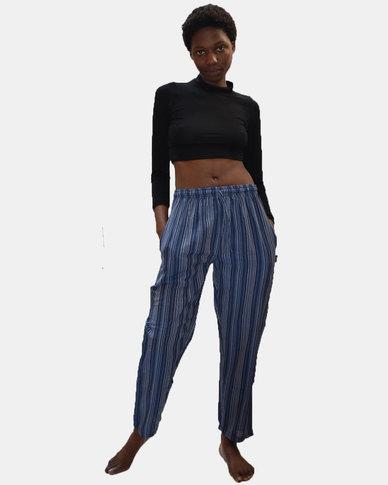 SKA Stripe PE Pants Blue