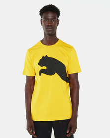 Puma Big Logo Tee Sulphur