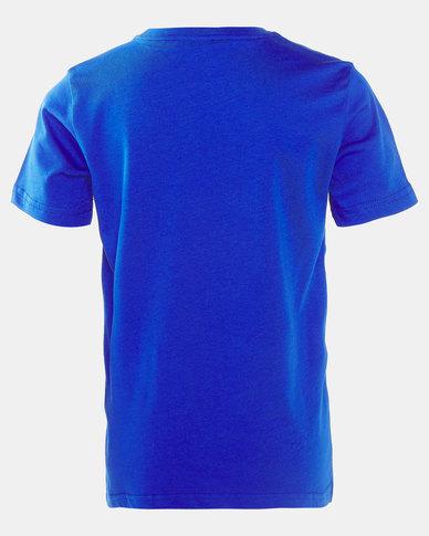 adidas Boys Linear Tee Blue