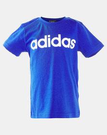 adidas Boys Essential Linear Tee Blue