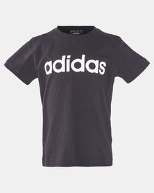 adidas Boys Linear Tee Black