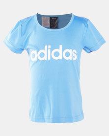 adidas Girls YG C Tee Blue