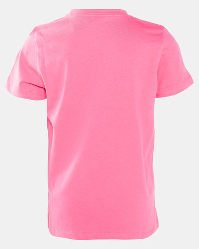 adidas Performance Essential Linear Tee Pink
