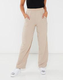Utopia Soft Twill Wide Leg Pants Stone