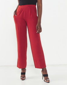 Utopia  Soft Twill Wide Leg Pants Rust
