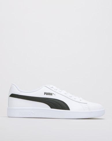 online store deb8c f4442 Puma Sportstyle Core Puma Smash v2 L Puma White-Puma Black Sneakers
