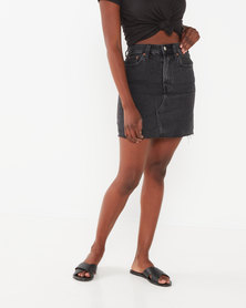 Levi's ® High Rise Deconstructed Iconic Skirt Black