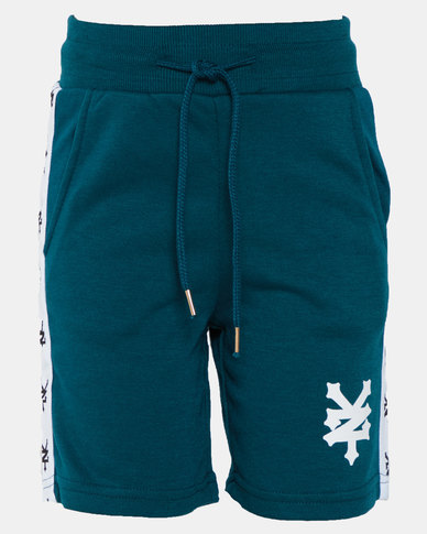 Zoo York Boys Fleece Shorts With Tape Teal