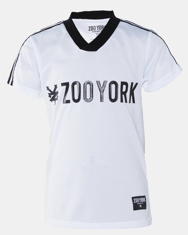 Zoo York Boys S/S Mesh Tee With Tape White
