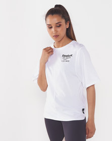 Reebok Performance TS Graphic Tee White
