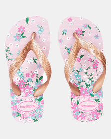Havaianas Kids Flores Sandal Pink