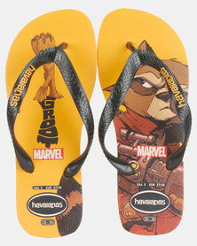 Havaianas Kids Top Marvel Sandals Yellow