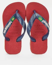 Havaianas Kids Brazil Logo Sandals Red