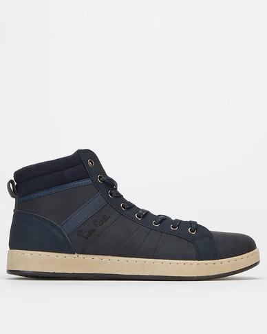 Pierre Cardin Hi Top Sneakers Navy
