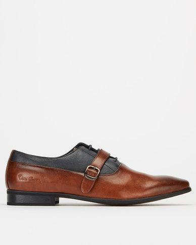 Pierre Cardin Tan Formal Shoes Navy