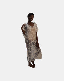 SKA Long Lace Kaftan Natural
