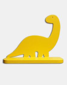 Tonewood Crafters Dinosaur Wall Shelf Brachiosaurus Yellow