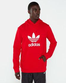adidas Originals Trefoil Hoodie Red