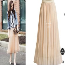 MICRO PLEATED SHIMMER FABRIC MIDI LENGTH SKIRT WITH ELASTIC WAISTBAND SHIMMER PALE PINK