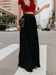 FULL CIRCLE PLEATED EXTRA LONG MAXI LENGTH SKIRT