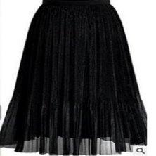 MICRO PLEATED SHIMMER FABRIC MIDI LENGTH SKIRT WITH ELASTIC WAISTBAND SHIMMER BLACK