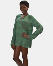 SKA Ohm Kurta Shirt Green