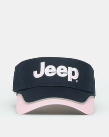 Jeep Ladies Visor Navy/Pink