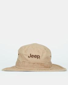 Jeep Widebrim Floppy Hat Khaki