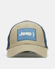 Jeep Trucker Cap Beige/Navy