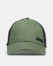 Jeep Trucker Cap Olive/Black