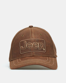 Jeep Oil Skin Cap Brown