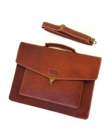 The Wanderer Handcrafted Hudson Leather Laptop Bag Oak