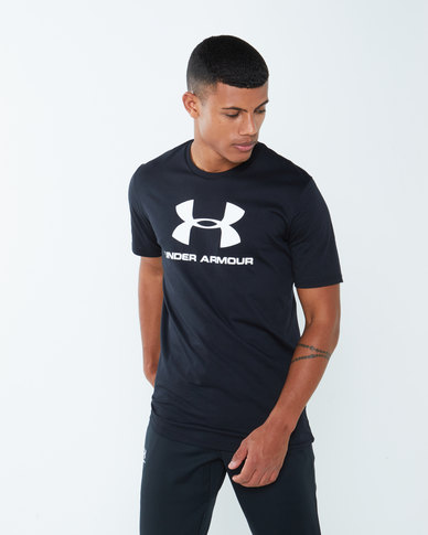 Under Armour Sportstyle Logo Short Sleeve Black
