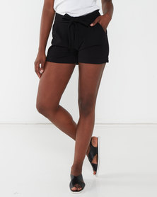 Brave Soul Tie Shorts Black
