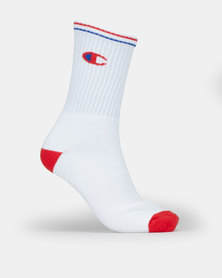 Champion Crew 2PK Socks White