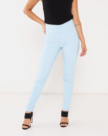 Sissy Boy High Waist Trousers Soft Blue