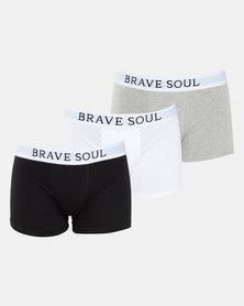 Brave Soul 3PK Classic Bodyshorts Multi