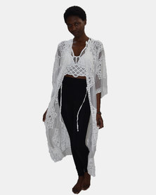 SKA Open Lace Kaftan White