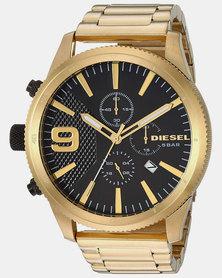 Diesel Rasp Chrono 50mm SS Watch Gold-plated
