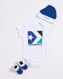 Converse Star Chevron CTP Baby Grow Converse White