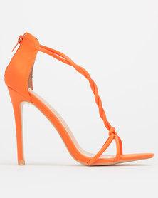 Public Desire Aurora Heels Neon Orange