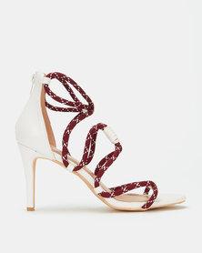 Miss Black Aruba Rope Detail Heels Combo White