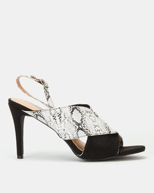 Miss Black Annastacia Snake Cross Over Heels Black