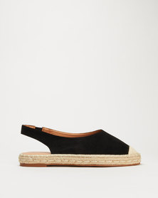 Miss Black Plaza Sling Back Espadrille Black
