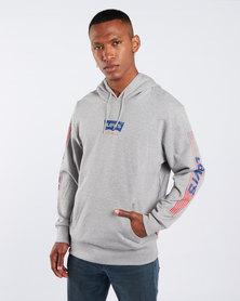 Levi's ® Midtone Graphic Pullover Hoodie Grey