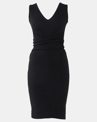 Utopia Black Sleeveless Tie Front Dress