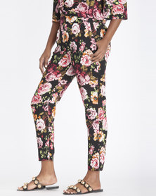 Contempo Floral Printed Pants Multi