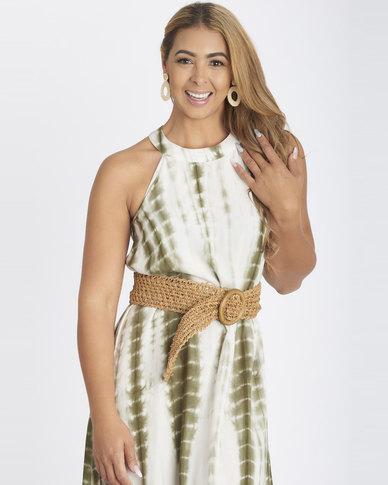 Contempo Tie Dye Dress Khaki