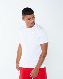 Nike Performance M NK Dry Miller Short Sleeve Top White